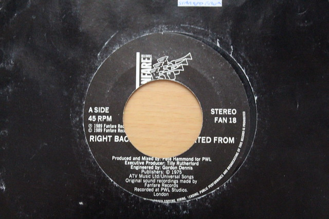 Right Back Where I Started From Sinitta 45 Single 1975