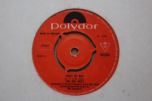 First Of May The Bee Gees 45 Single 1969