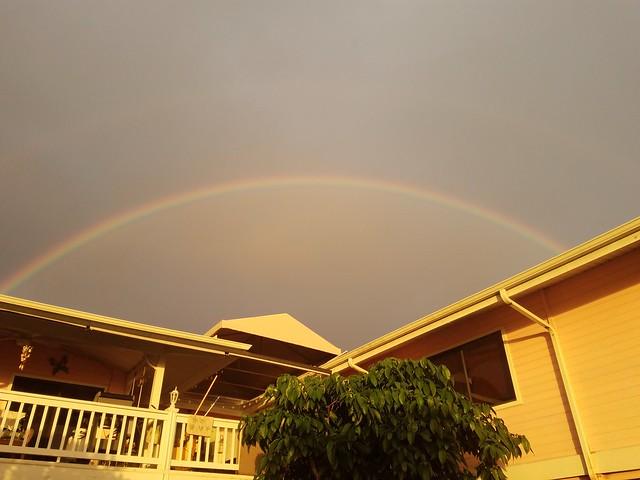 Sunset Rainbow over Hale Fackler