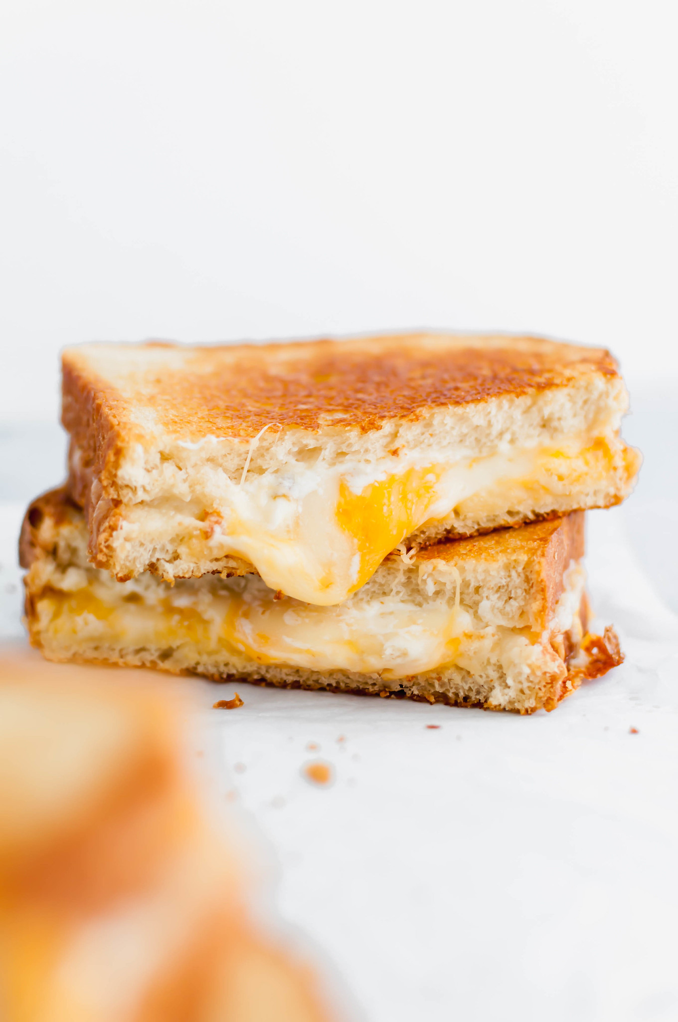 Get ready for the cheesiest grilled cheese of your life. This 4 Cheese Grilled Cheese is packed with a few favorites and a few surprises to make the ultimate sandwich.