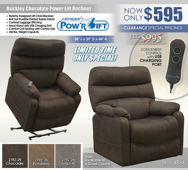 Buckley Chocolate Power Lift Recliner_4864