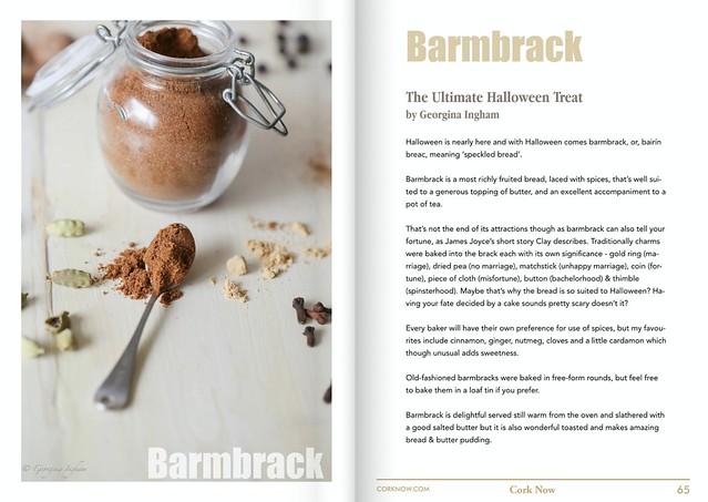 Georgina Ingham | Culinary Travels - Barmbrack article written for Cork Now Magazine