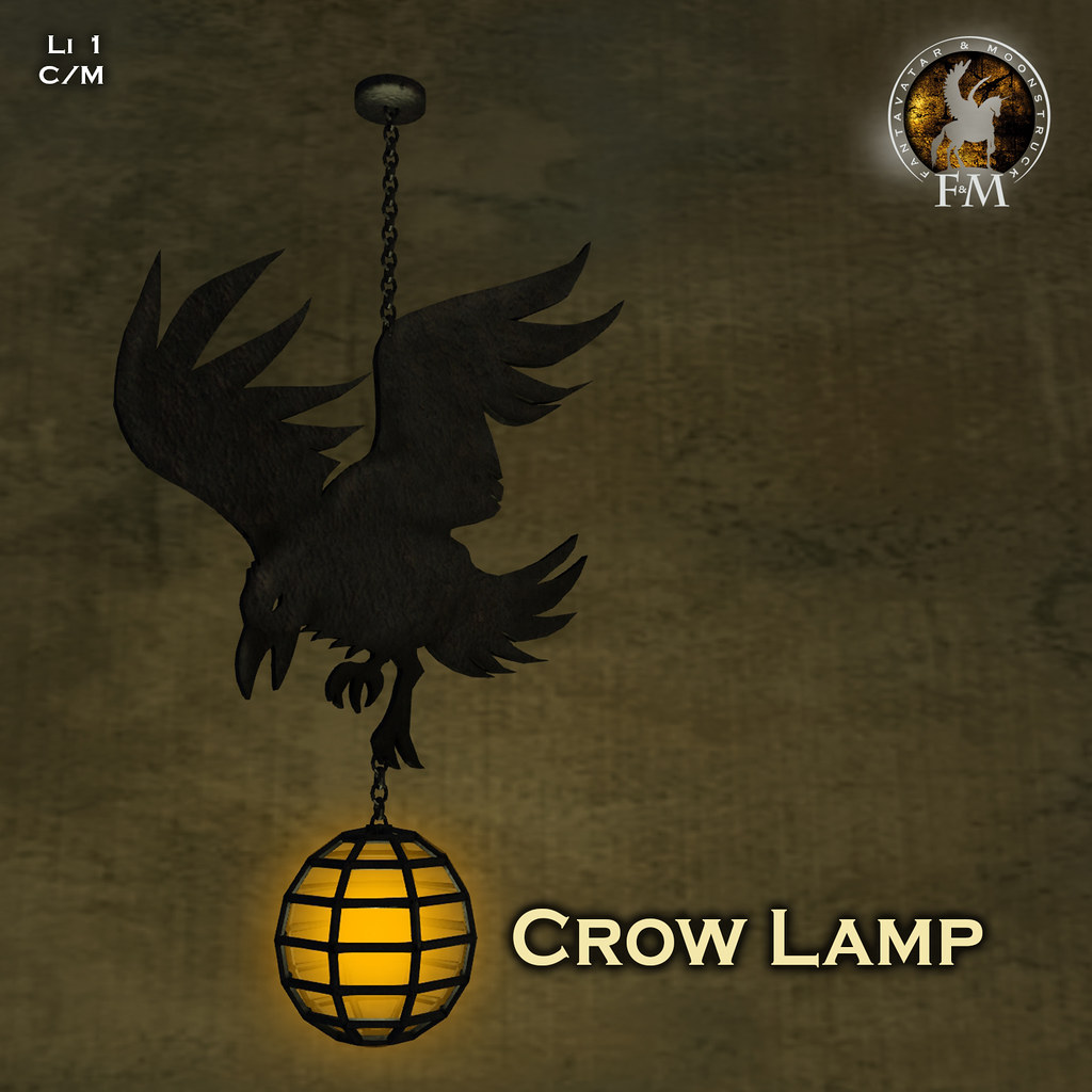 F&M * Crow Lamp @ SL Shop and Hope