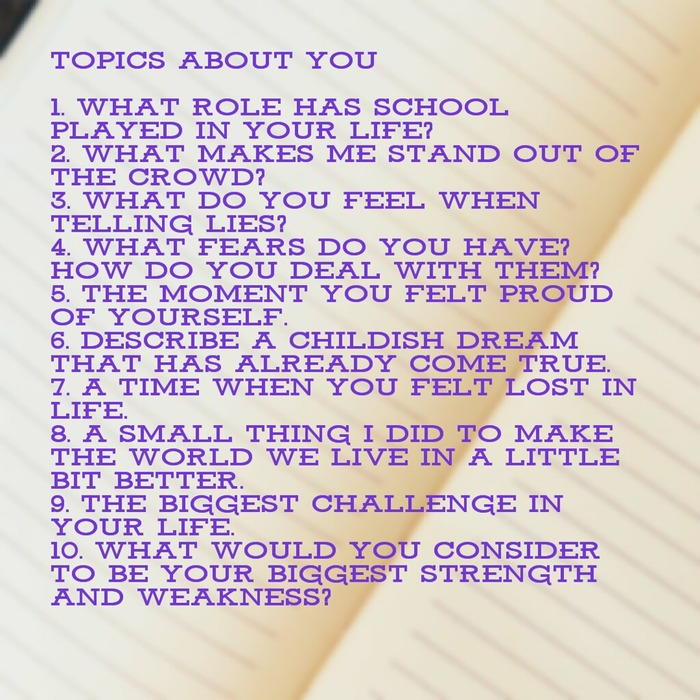 Topics about You