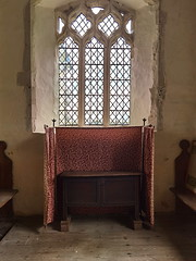 chest as side altar and riddel screen