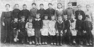 L'école primaire de Merlia au début du XXe siècle