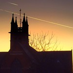 Emmanuel Church outline at Sunset