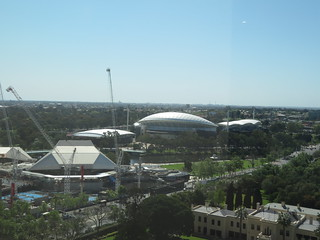 Adelaide Buildings viewed from office complex on top of the Myer Centre