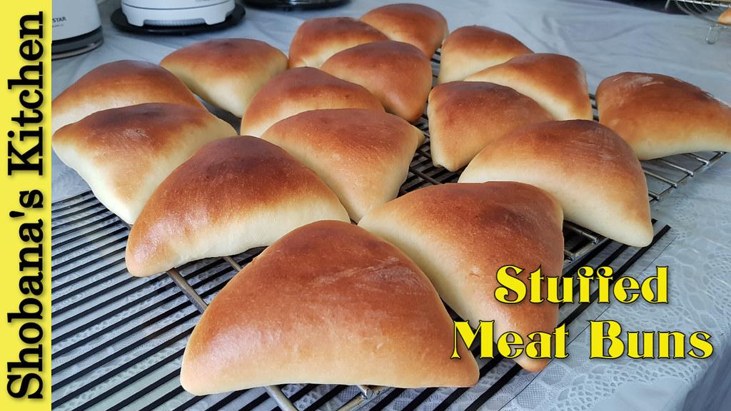 Spicy Mutton Curry Bun / Stuffed Meat Buns for Breakfast - Dinner / Shobanas Kitchen