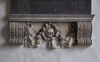 garlanded skull, 1640s