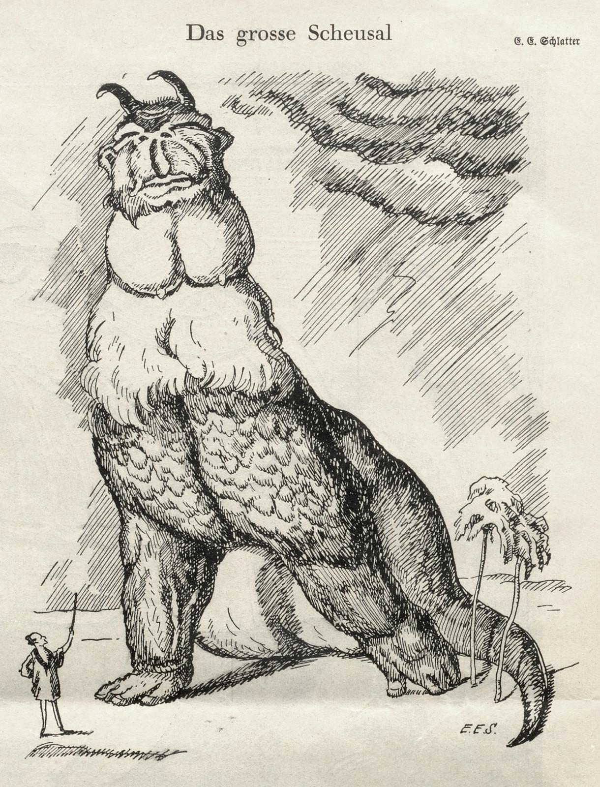 Ernst Emil Schlatter - The Great Horror, Nebelspalter, 1924