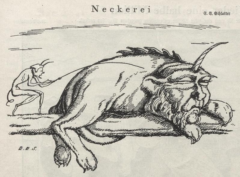 Ernst Emil Schlatter - Teasing, Nebelspalter, 1924