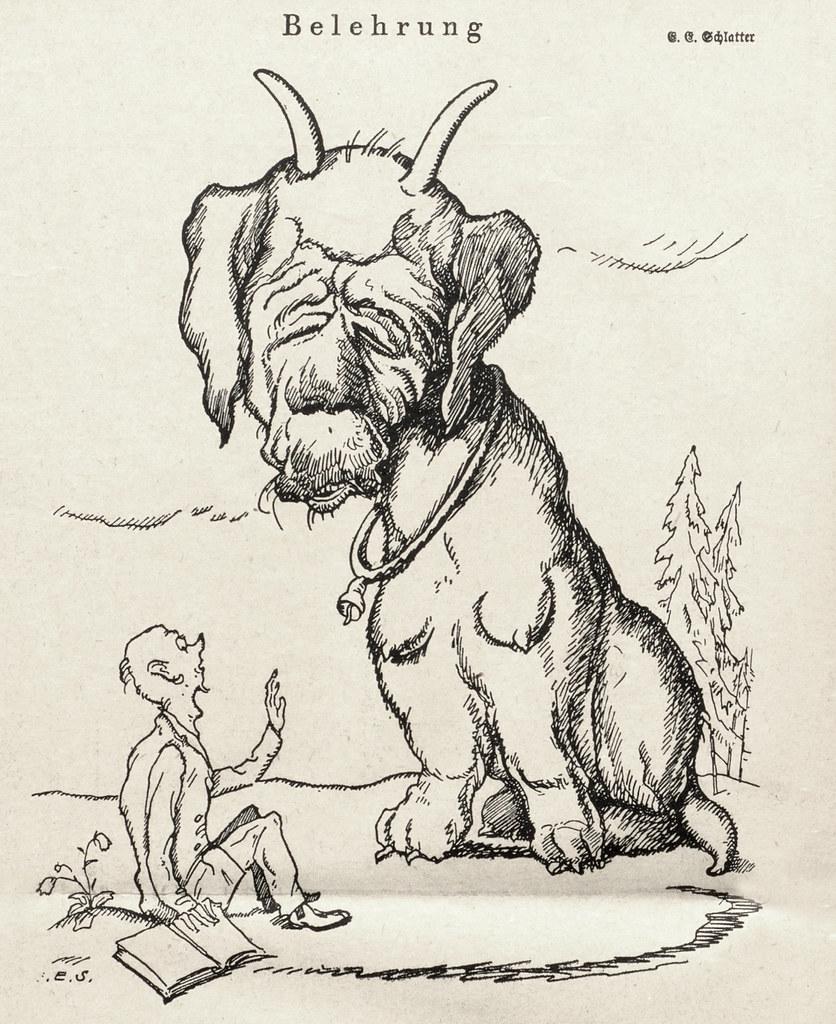 Ernst Emil Schlatter - Indoctrination, Nebelspalter, 1923