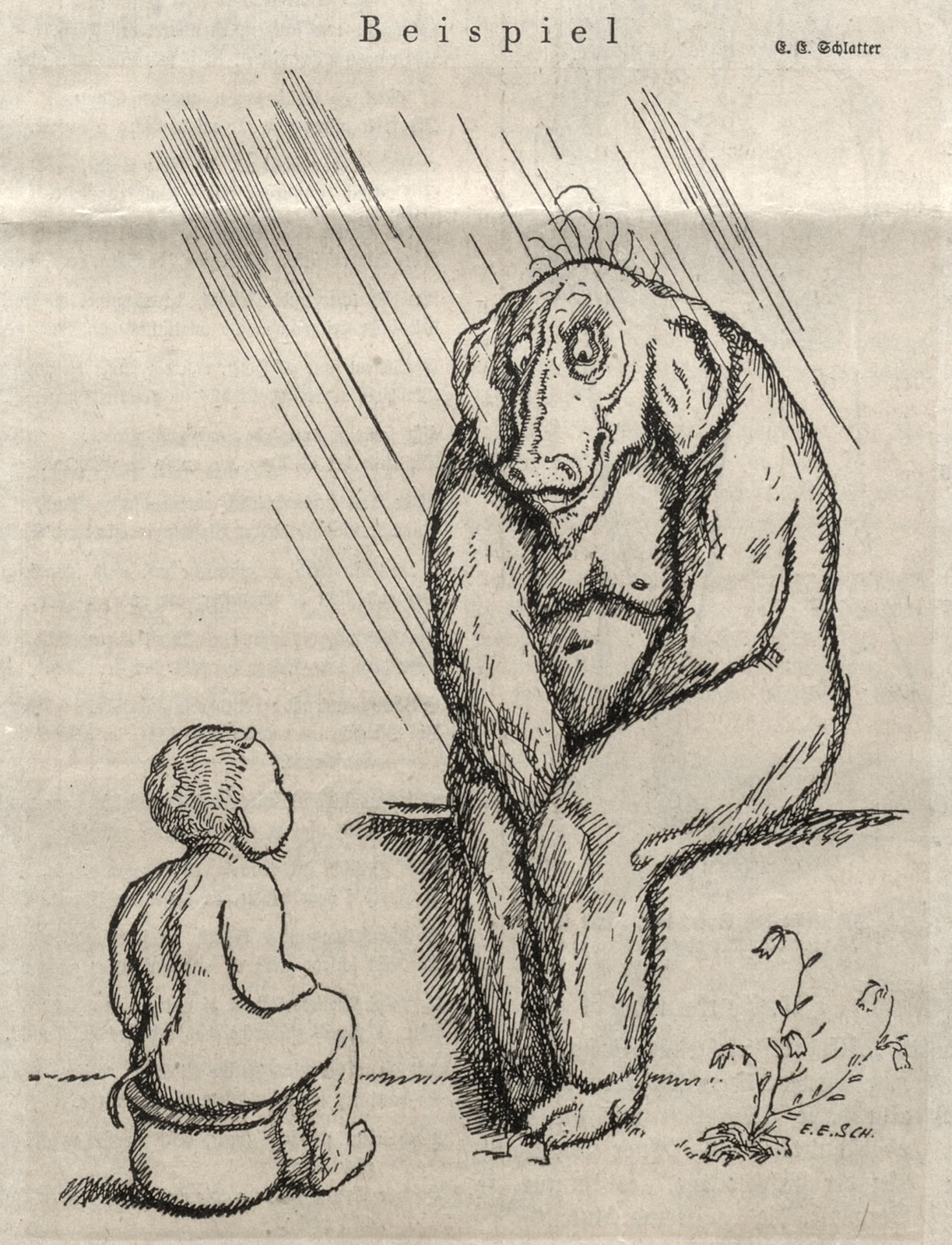 Ernst Emil Schlatter - Example, Nebelspalter, 1924