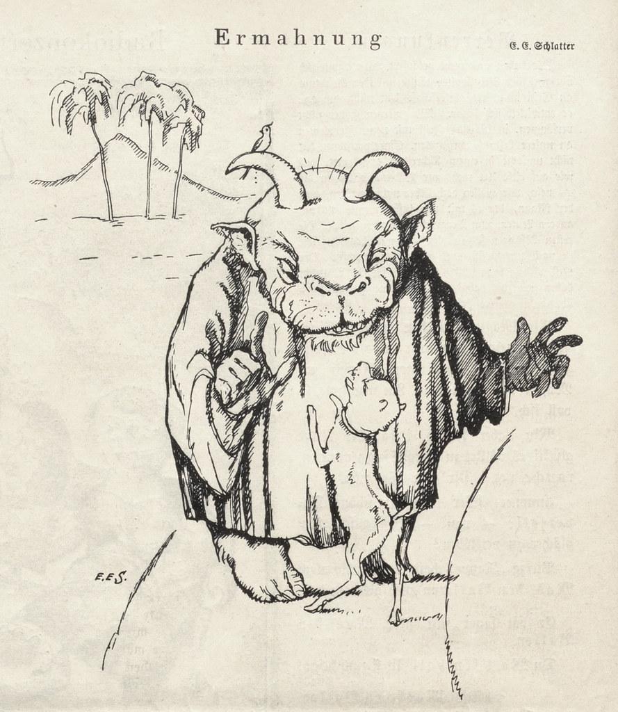 Ernst Emil Schlatter - Admonition, Nebelspalter, 1924