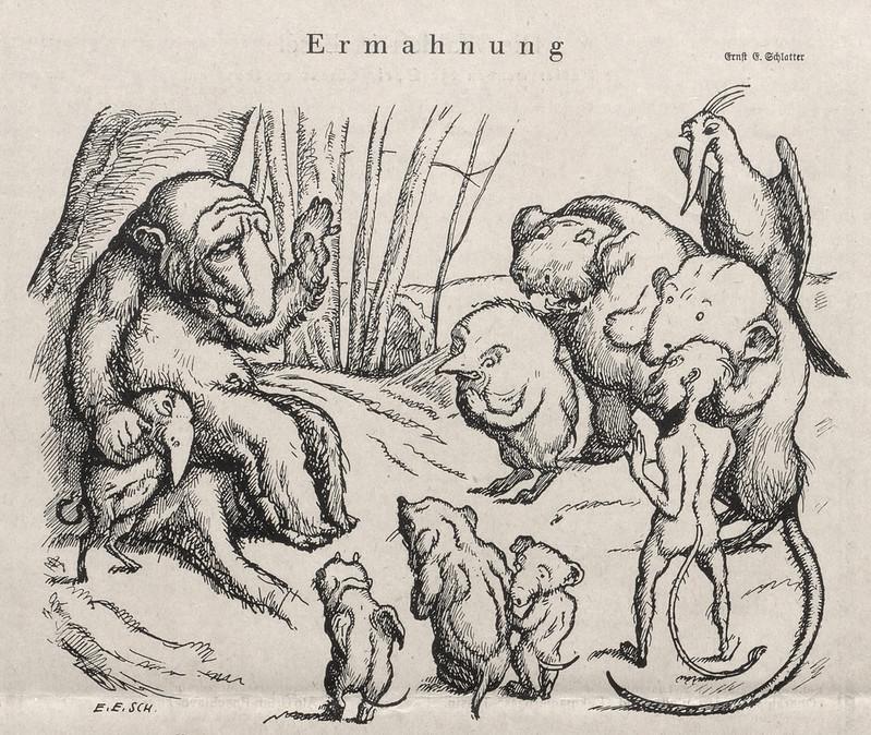 Ernst Emil Schlatter - Admonition, Nebelspalter, 1923