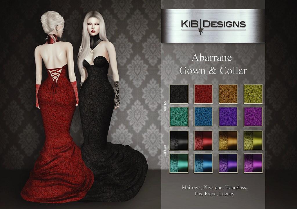 KiB Designs – Abarrane Gown & Collar @Darkness Event