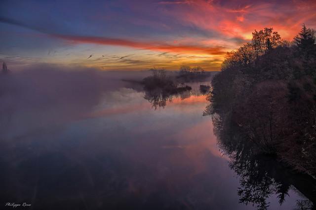 Morning mists ...