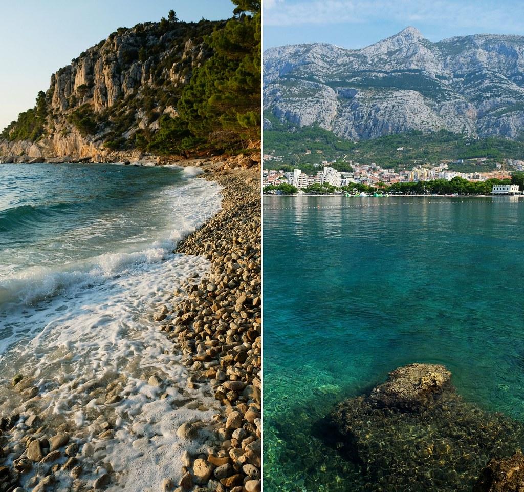 Ramova Beach & Main Beach, Makarska, Croatia