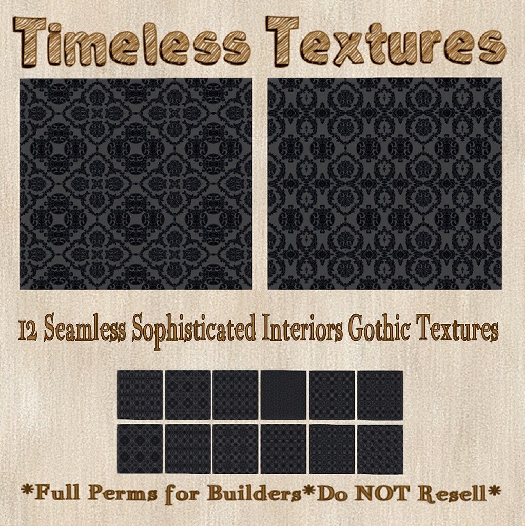 TT 12 Seamless Sophisticated Interiors Gothic Timeless Textures