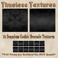 TT 12 Seamless Gothic Brocade Timeless Textures