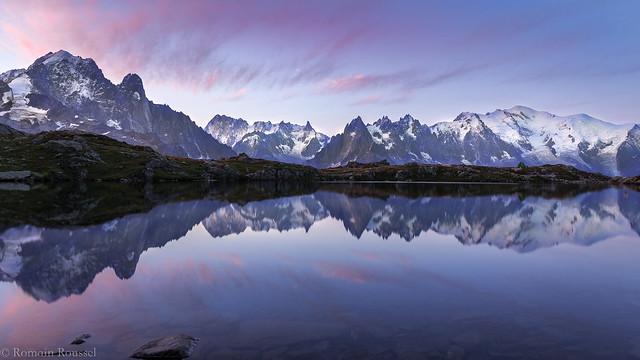 Lueurs matinales sur le Mont-Blanc
