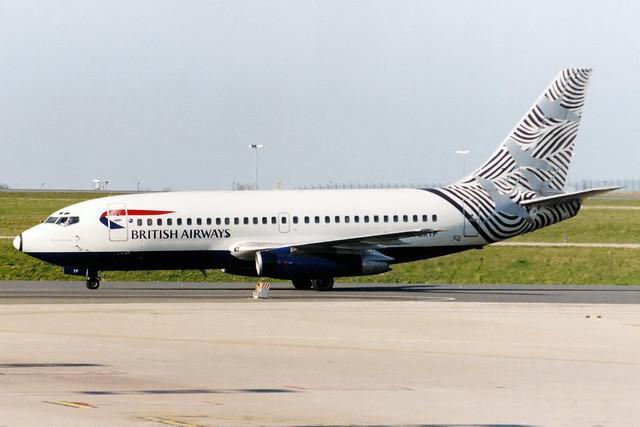 British Airways | Boeing 737-200 | G-BKYP | Waves and Cranes | Paris Charles de Gaulle