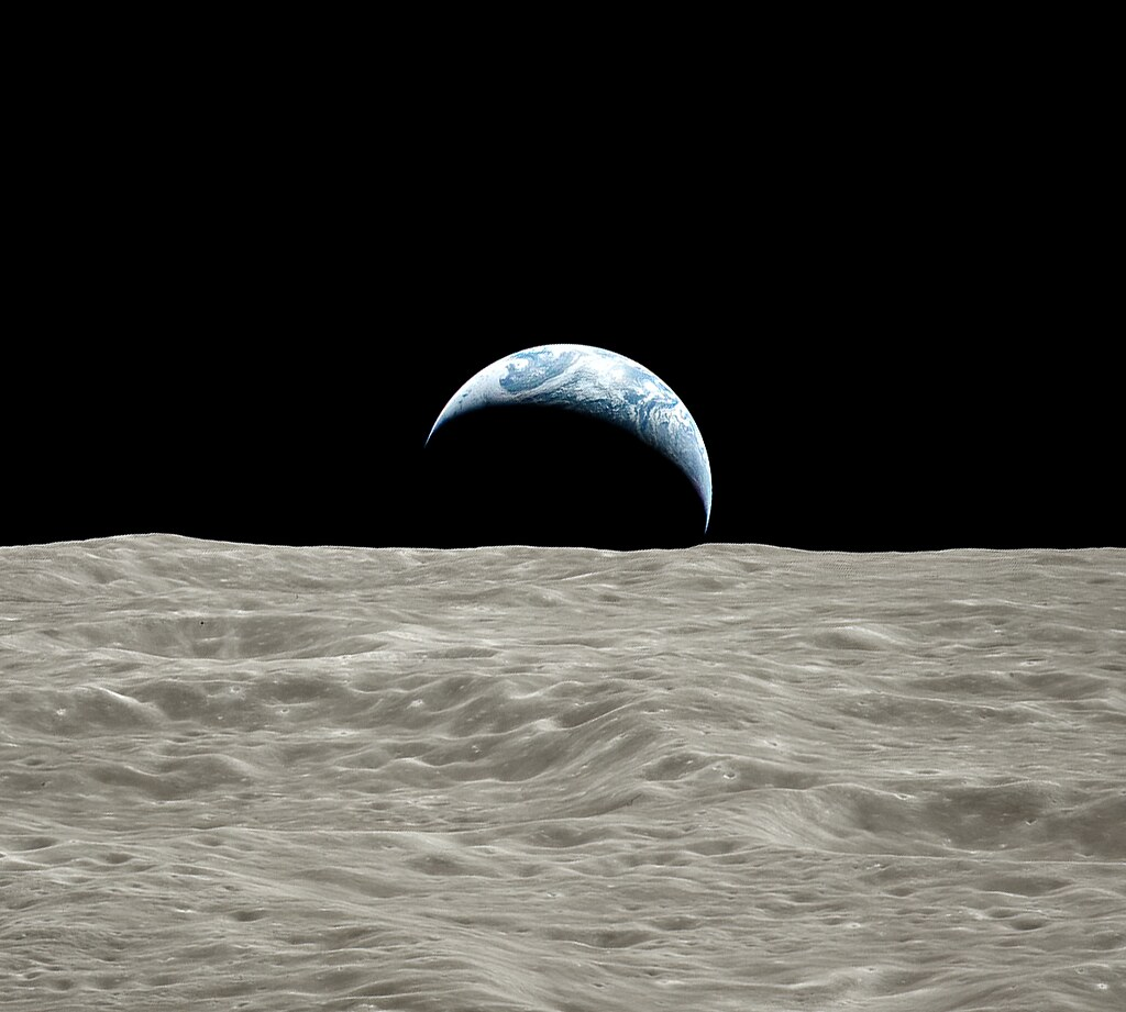 Earth over Moon - Apollo 17 - Rotated