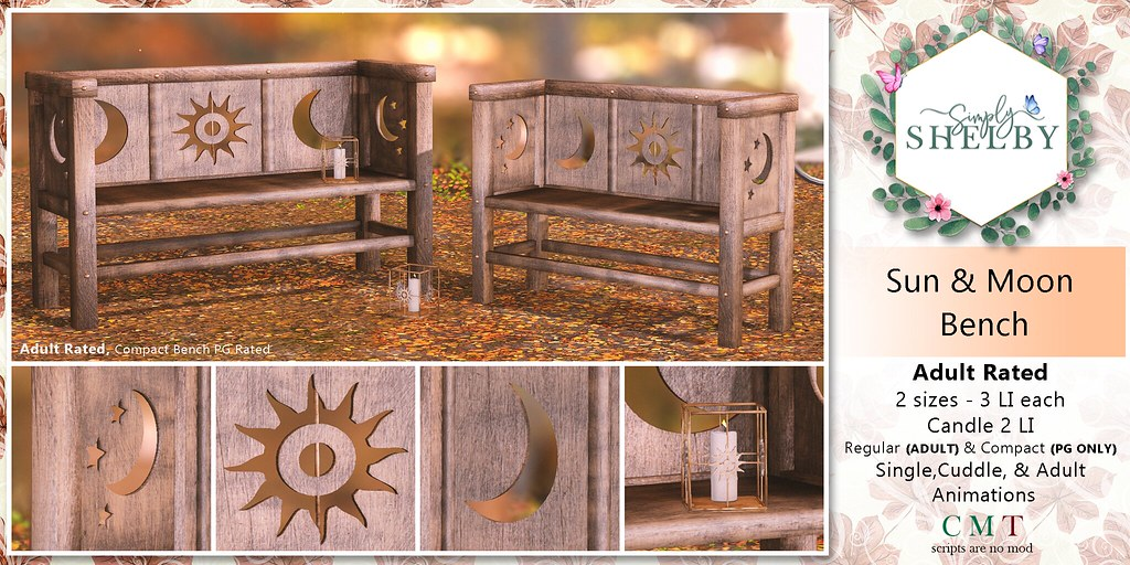 Simply Shelby Sun & Moon Bench Adult