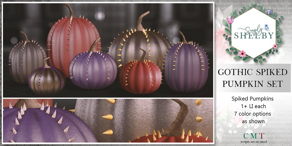 Simply Shelby Gothic Pumpkin Set