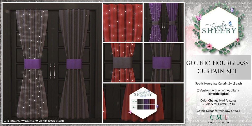 Simply Shelby Gothic Hourglass Curtain