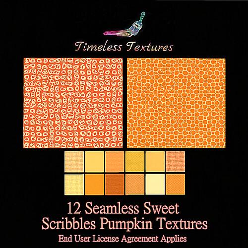 TT 12 Seamless Sweet Scribbles Pumpkin Timeless Textures