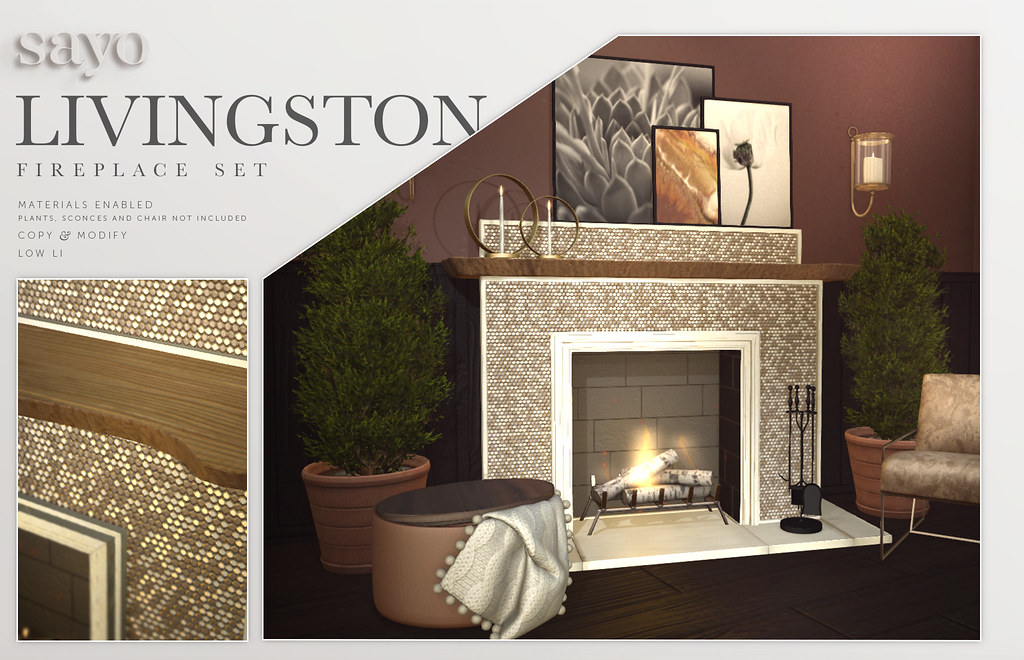 SAYO Livingston Fireplace Set @ Fameshed