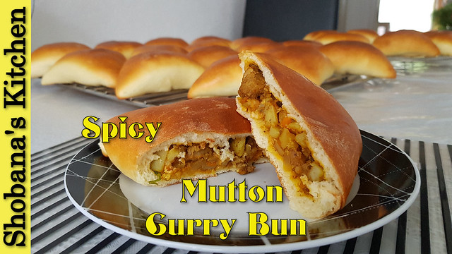 Spicy Mutton Curry Bun / Stuffed Meat Buns for Breakfast - Dinner / Shobanas Kitchen