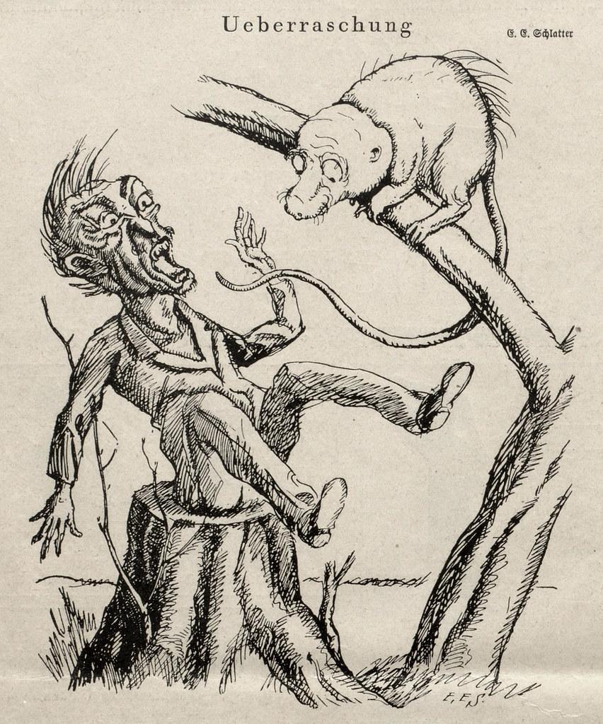 Ernst Emil Schlatter - Surprise, Nebelspalter, 1923