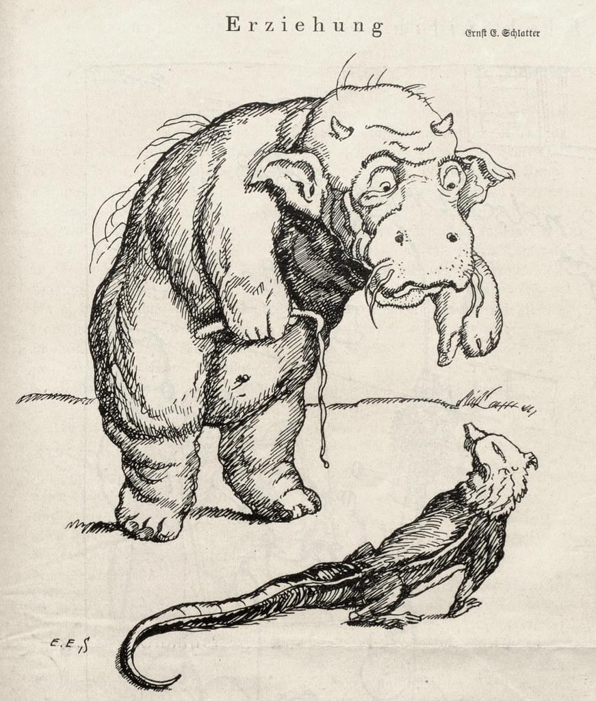 Ernst Emil Schlatter - Education, Nebelspalter, 1923