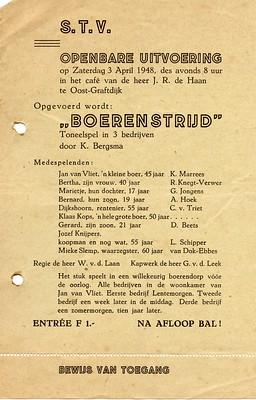 Stv - 1948-04-03 - affiche Boerenstrijd - 001