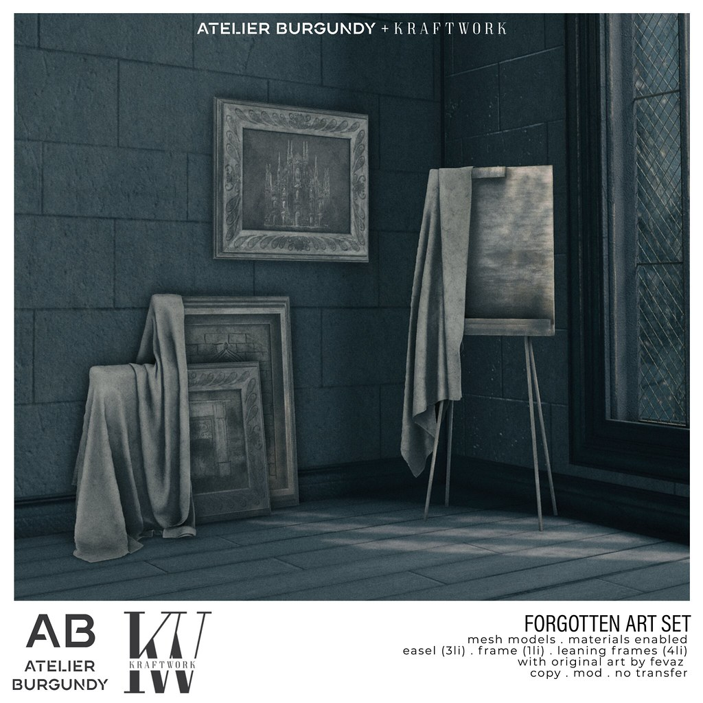 Atelier Burgundy + KraftWork . Forgotten Art 3000