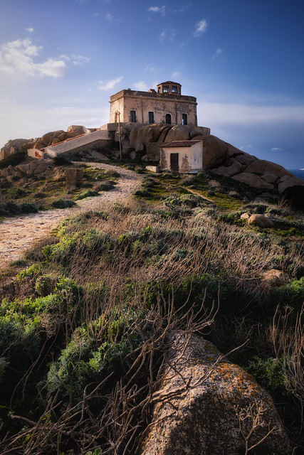 Old lighthouse in Capo Testa