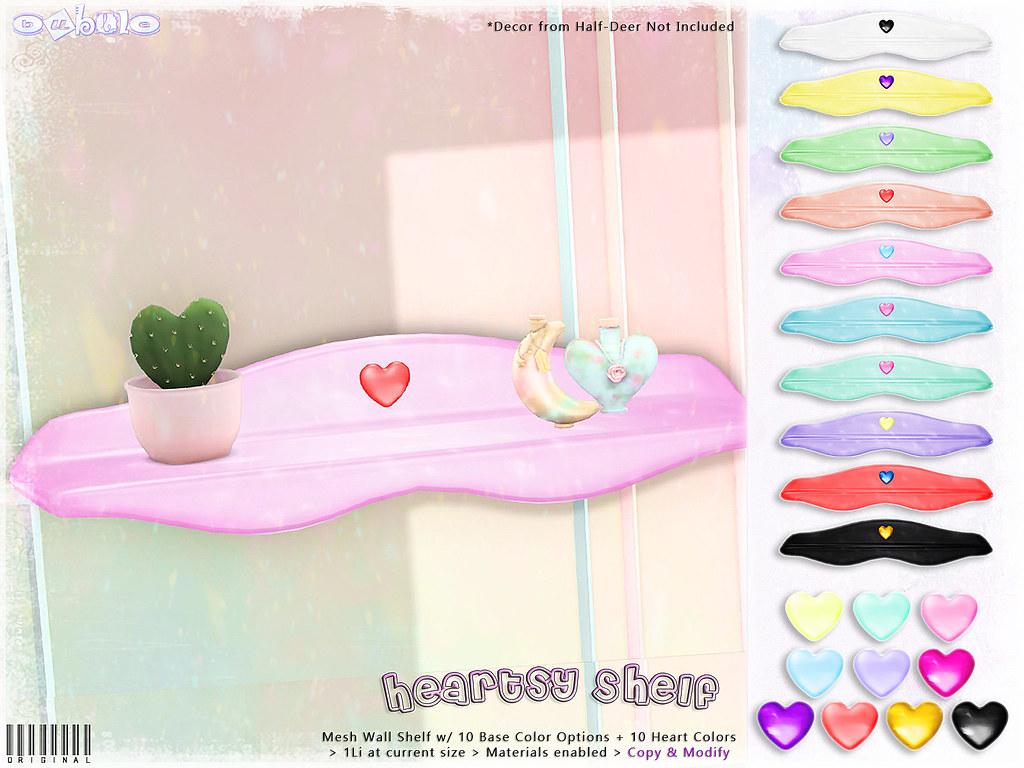 [ bubble ] Heartsy Shelf