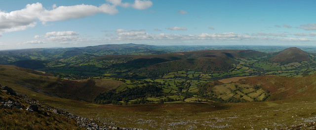 The circuit of the Black Mountains: looking west from Pen Allt-mawr