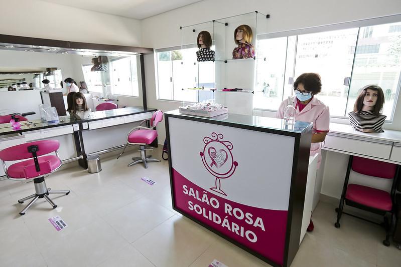 Inauguração do Salão Rosa Solidário no Hospital de Base