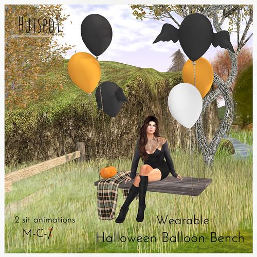 Wearable Halloween Balloon Bench