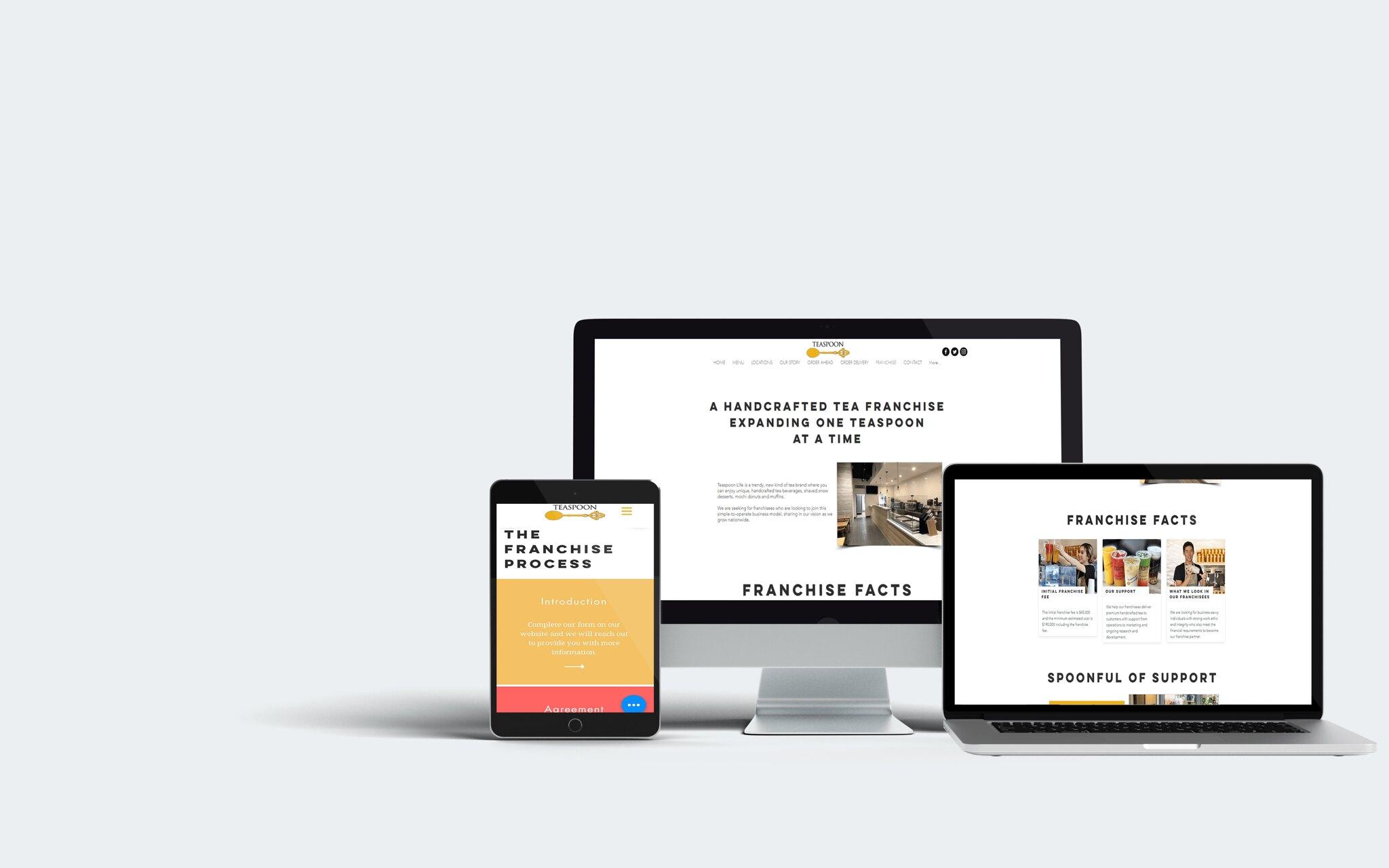 Teaspoon Life Wix Single Page Web Design Tuyen Chau