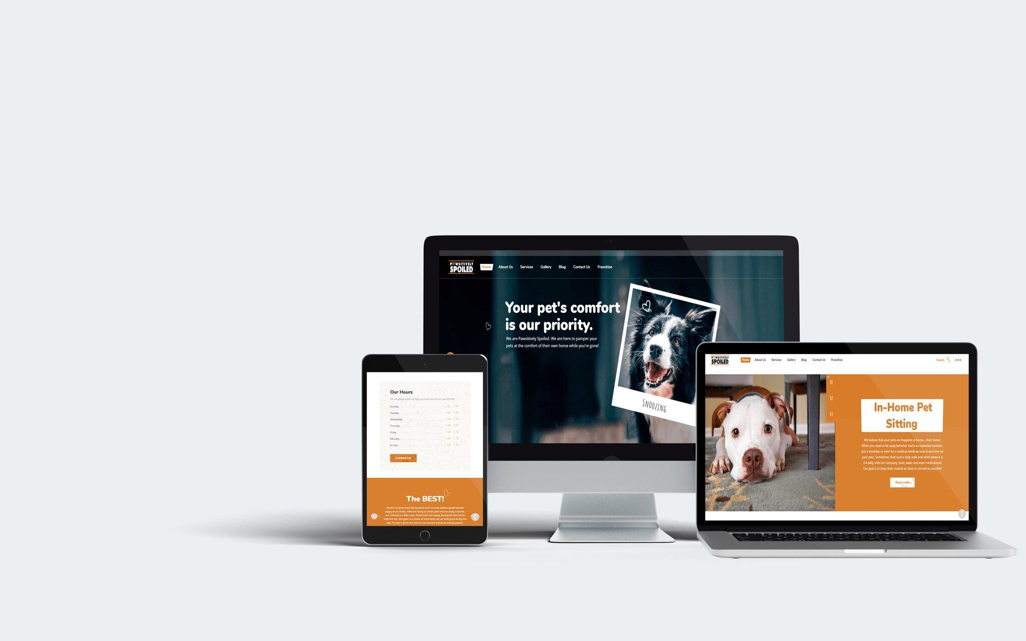 Pawsitively Spoiled WordPress Web Design Tuyen Chau