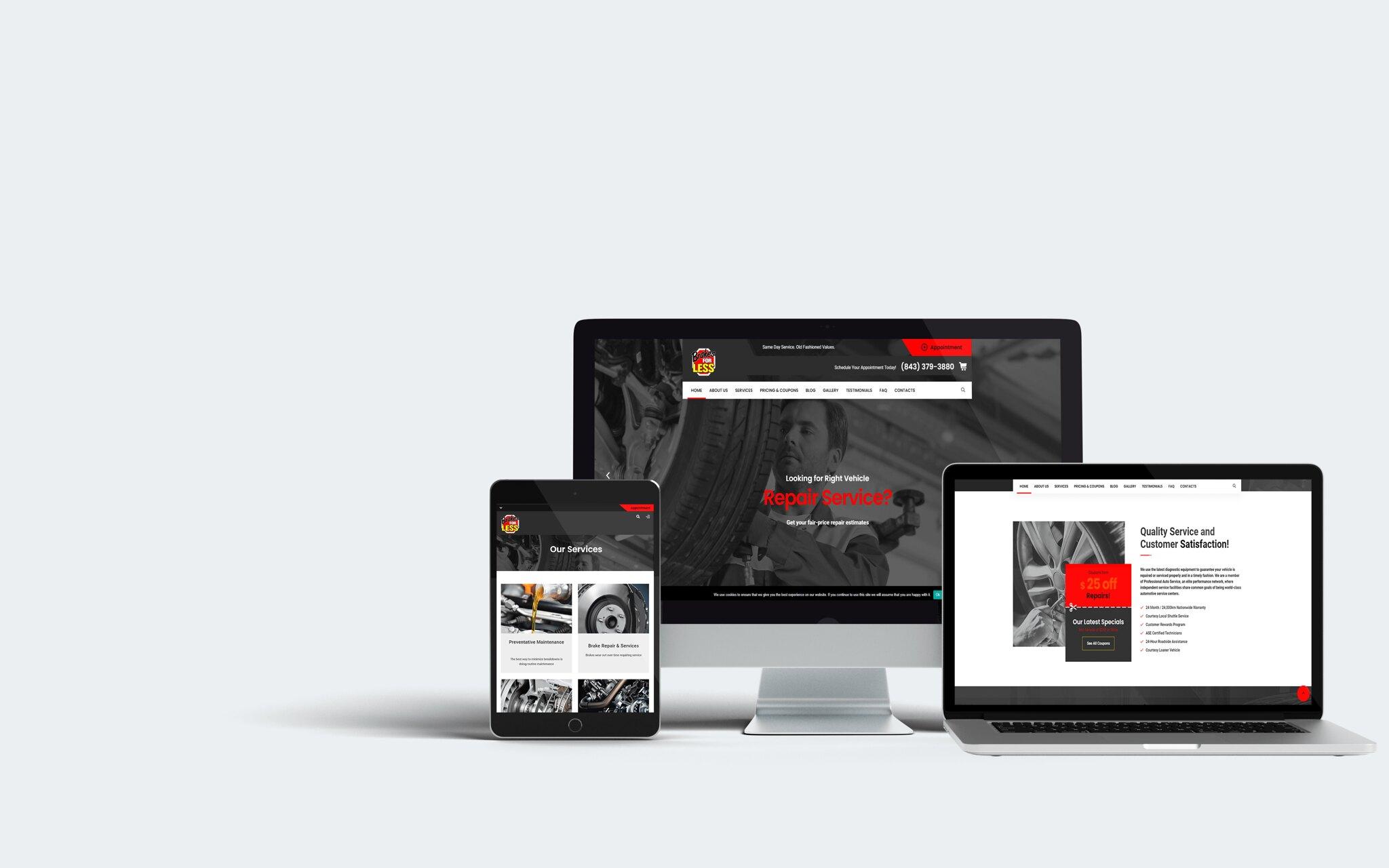 Brakes for Less WordPress Web Design Tuyen Chau