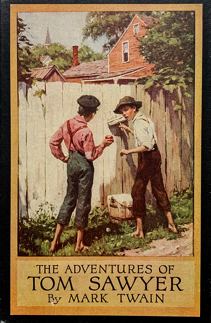 """""""The Adventures of Tom Sawyer"""" by Mark Twain.  New York: Harper & Brothers, (1917).  Illustrated by Worth Brehm."""