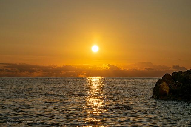 Sunset at erimitis, Paxos, Greece  (October days)