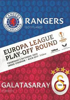 Rangers v Galatasaray 20201001