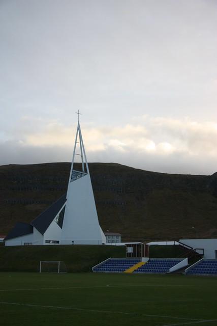 Modern church in Olafsvik on Snaefellsnes peninsula